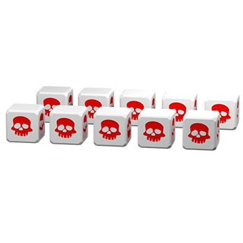 10 White dice Clash of Rage