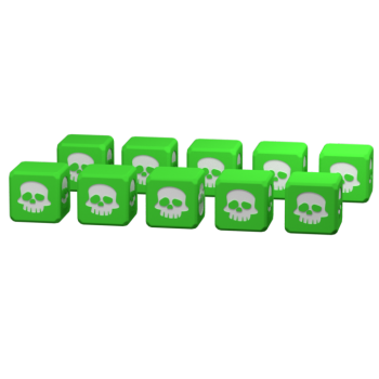 10 green dice Clash of Rage